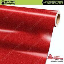 Avery Supreme GLOSS RED DIAMOND Vinyl Vehicle Car Wrap Film Roll SW900-426-D