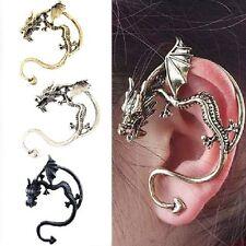 Drachen Ohrstecker Ohrringe Drache Gothic Ohrklemme Ohrschmuck Ohrring 3 Farben