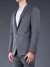 NWT Calvin Klein Collection Ernest Charcoal Gray 1 Button Blazer
