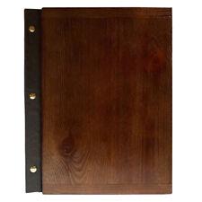 MENU HOLDER A4 SIZE WOODEN Leather RESTAURANT PUB HOTEL DISPLAY SIGN BAR TABLE