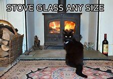 STUFA in vetro tagliato a qualsiasi dimensione-resistente al calore fino a 760*C