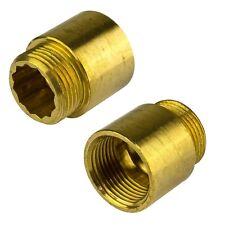 """Hahnverlängerung 1""""x10mm Messing Gewindeverlängerung Rohrverlängerung Fitting"""