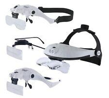 Quality Optics® LED Illuminated Head Magnifier Collection 1X 1.5X 2X 2.5X 3.5X