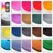 25 m SCHRÄGBAND 0,40 €/m ♥ gefalzt auf 20 mm Baumwolle Farbauswahl ♥ Kantenband