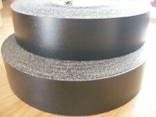 Iron on Pre-Glued Veneer Melamine Edging Tape 48mm Black Kitchen Worktops, Doors
