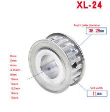 24 Teeth XL Timing Belt Pulley Keyway Bole for 10mm Belt Reprap 3D Printer CNC