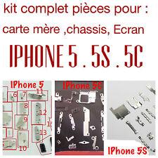 kit petites pièces métal Iphone 5 5c 5s complet pour carte mère chassis écran