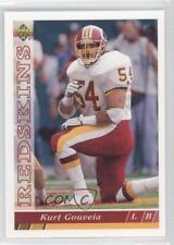 1993 Upper Deck #367 Kurt Gouveia Washington Redskins Football Card