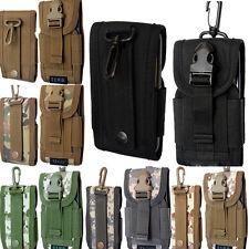 Universal Ejército Camo cinturón de bucle gancho bolsa funda bolsa funda para teléfono móvil