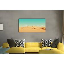 Framed stretched canvas desert green aqua sky aurora print prints wall art