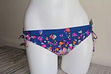 NWT Kenneth Cole Navy Blue Flower Print Bikini Bottom, Sz S, L