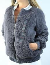 Victoria's Secret PINK Full Zip Sherpa Reversible Bomber Anorak Jacket Coat