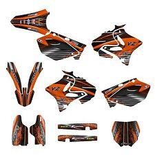 2002 - 2014 YZ125 YZ250 Graphics sticker kit #3333 Orange Free Custom Service