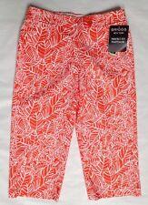 Briggs New York No Gap Waist Perfect Fit Tropical Orange Print Capris 8 & 12 $44