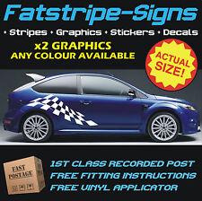 Ford Focus St Rs Checker Vinilo coche gráficos Rayas Calcomanías Stickers 1.6 2.0 D
