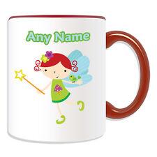 Personalised Gift Fairy Elf Mug Money Box Cup Tale Name Message Girl Coffee Tea