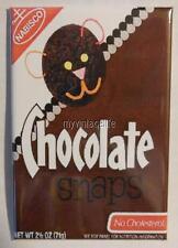 "Vintage NABISCO CHOCOLATE SNAPS COOKIES 2"" x 3"" Fridge MAGNET Art COOKIE"
