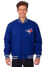 MLB Toronto Blue Jays JH Design Wool Reversible Jacket With 2 Front Logos Blue