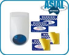 European Fake DIY Dummy Alarm Security Warning Stickers Watchgard SIREN STROBE