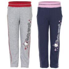 Nuevo deporte chica pantalones pantalones deportivos Hello Kitty gris azul 98 104 116 128 #302