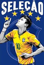 Neymar Selecao Brasil Soccer Team Captain Brazilian Football T-Shirt Tee
