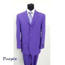 Men's basic suit 3 button (come with pants) Purple by Milaono Moda Sltye#802P