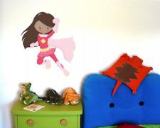 Superheldin Selina Wandtattoo Wandaufkleber Kinderzimmer  5 Größen