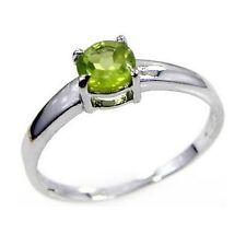 Damen Ring Lea, 925er Silber, 0,6 Kt. Peridot, 5 mm ø