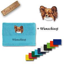 Handtuch Duschtuch Papillon M1 Baumwolle Stickerei bestickt + Wunschtext