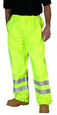 Hi Viz Vis 3 Fascia Elastica Pantaloni di sicurezza Work Wear Poly Cotone Pantalone in basso