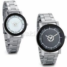 Couples Men's Women's Casual Unique Gear Stainless Steel Band Quartz Wrist Watch