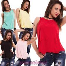 Suéter mujer velado volantes camiseta de tirantes tallas top nueva CJ-1497