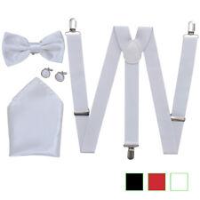 Accesorios para traje de hombre incluye tirantes y pajarita diferentes colores