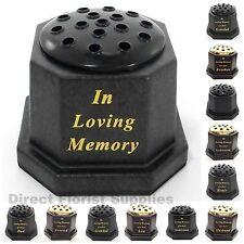 IN LOVING MEMORY GRAVE / MEMORIAL FLOWER VASE, TRIBUTE,  ASSORTED RELATIVES.