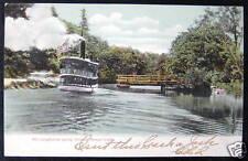 Songo Lock Maine ~ 1907 Steamer Longfellow ~ Ship