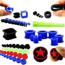 Soft silicona silicone plástico Plug bollos túnel alrededor del rectángulo cuadrada espiral
