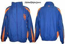 New York Mets Men MT-6XL Full-Zip Embroidered Microfiber Track Jacket MLB A13TRB