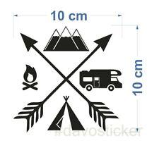 Camping Explore Sticker Aufkleber Camping Caravan Zelt VW Bus Klappfix Urlaub