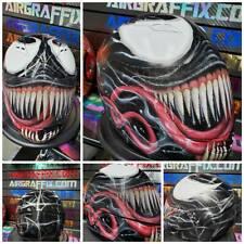 Venom Custom Painted Airbrushed Motorcycle Helmet