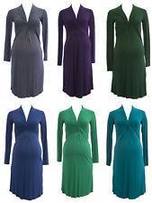 OLIAN Maternity Women's Chelsea Twist Detail Long Sleeve Dress $125 NWT