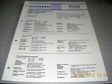 TELEFUNKEN Tuner TT350 HiFi Service Manual