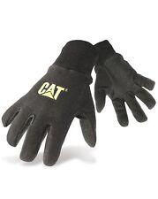 CAT Caterpillar Mens Jersey Dotted Gloves Black Heavy Duty Cotton Workwear