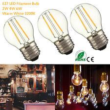 Retro LED G45 Filament Edison Bulbs E27 2/4/6W Bright Warm White Light Lamp RLM