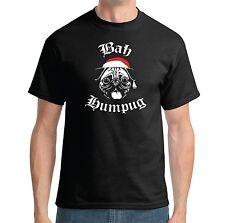 BAH HUMPUG T-SHIRT - HUMBUG FUNNY DOG PUG CHRISTMAS JOKE LADIES AND MENS