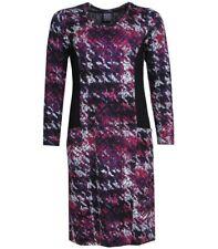 Winterkleid Kleid Stretch Viskose Pont Neuf Lila knielang langarm A-Form Herbst