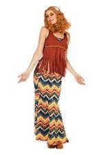 COSTUME / Déguisement de hippie femmes carnaval marron multicolore