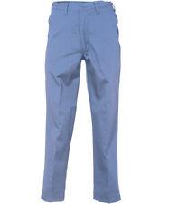 Men's Work Pants Postman Blue 100% Cotton Flex Waist Industrial REED Uniform