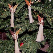 African Handmade Recycled Banana Fiber Palm Christmas Tree Ornament