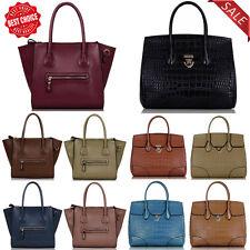 Women Designer Handbags Ladies Faux Leather Large Tote Shoulder Hand Bag New