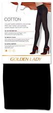 """Golden Lady Baumwoll-Strick-Strumpfhose """"Cotton"""" in schwarz Gr. S - M - L"""